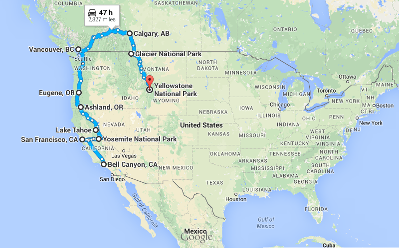 A Summary Usa Road Trip Part 1 My Bloggable Day